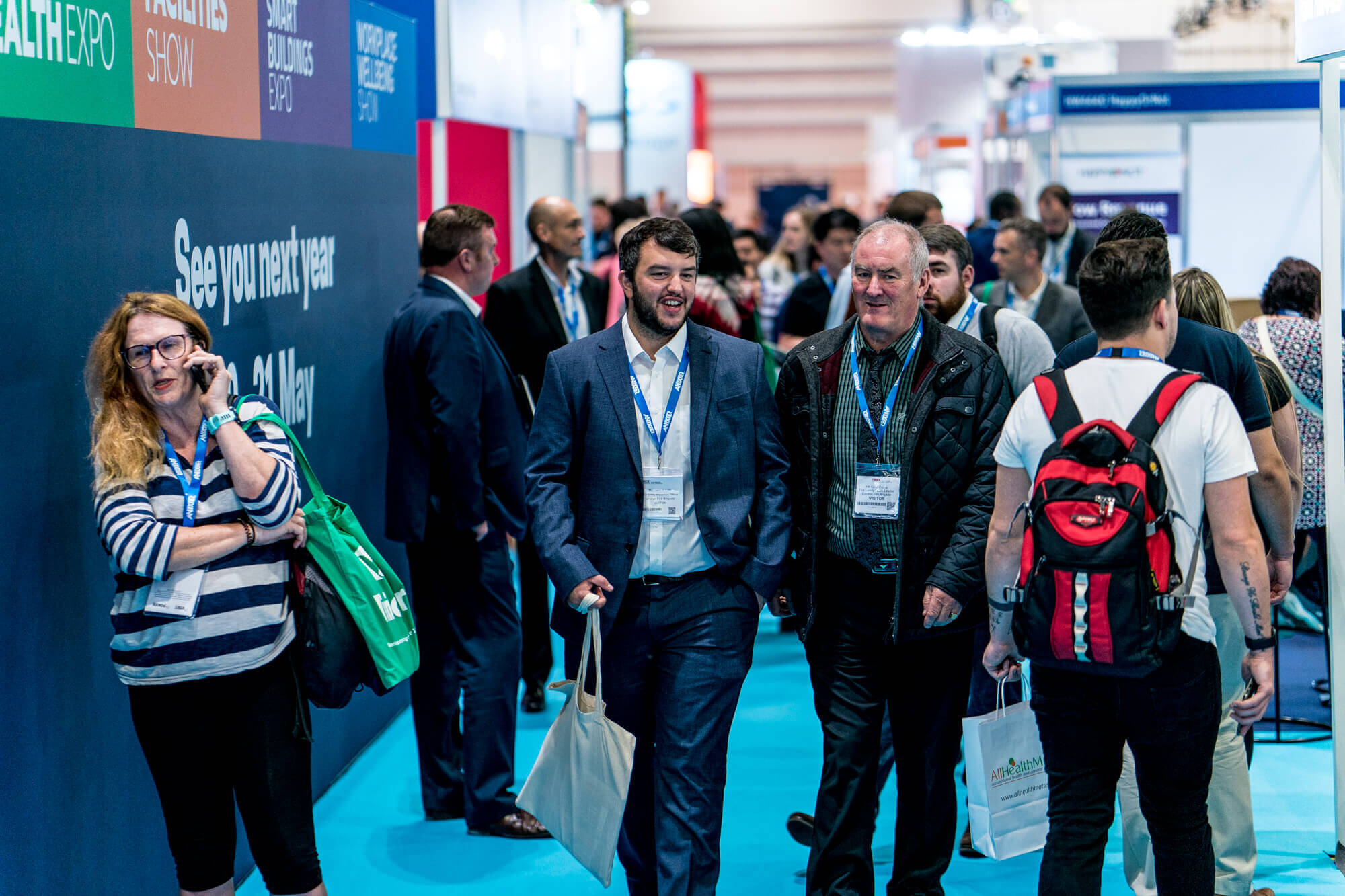 Visitors walking thorugh IFSEC 2019