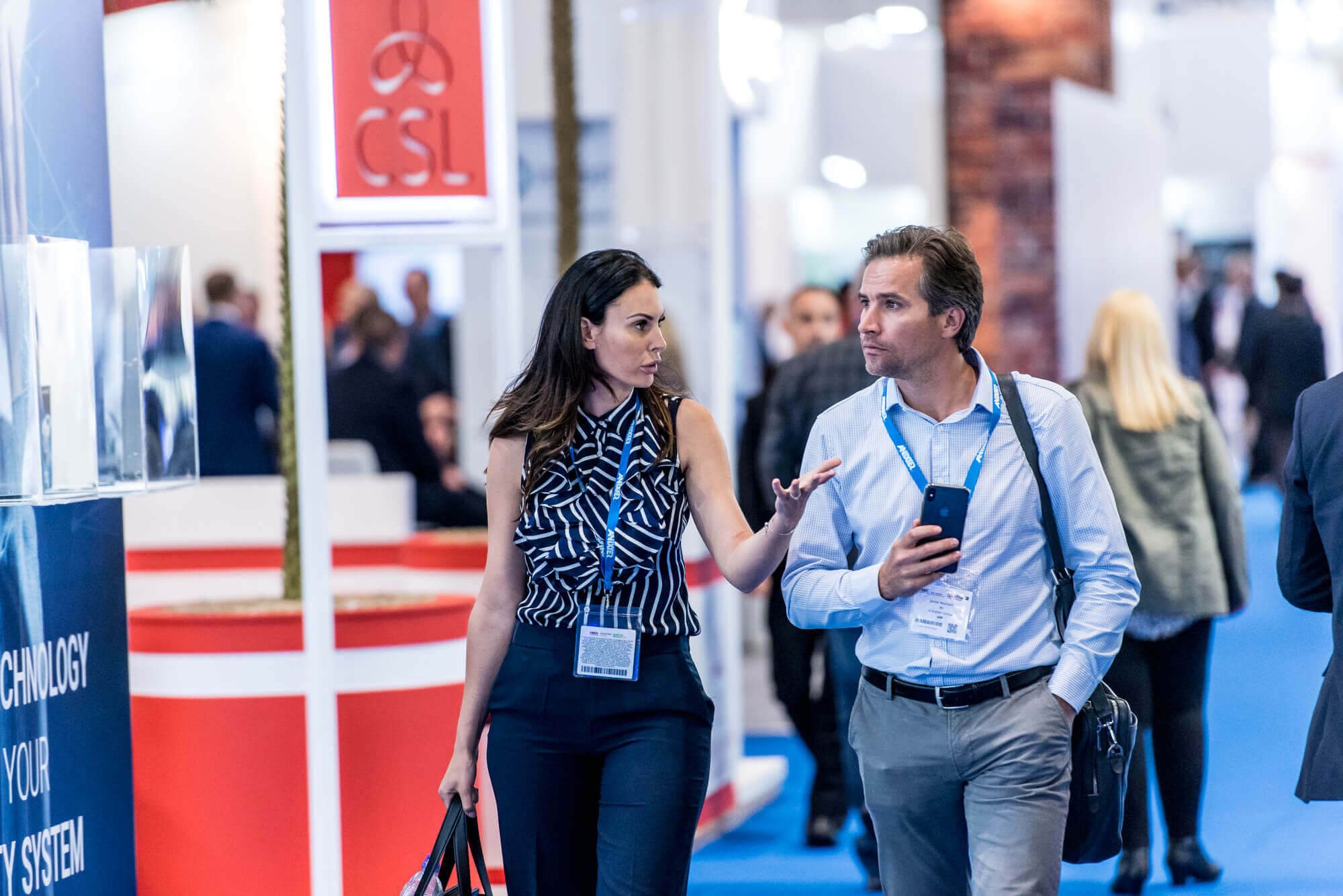 Two visitors at IFSEC 2019